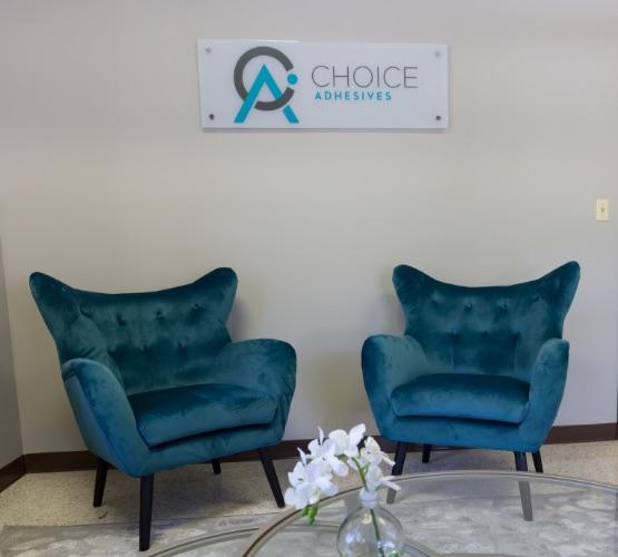 choice adhesives office lobby